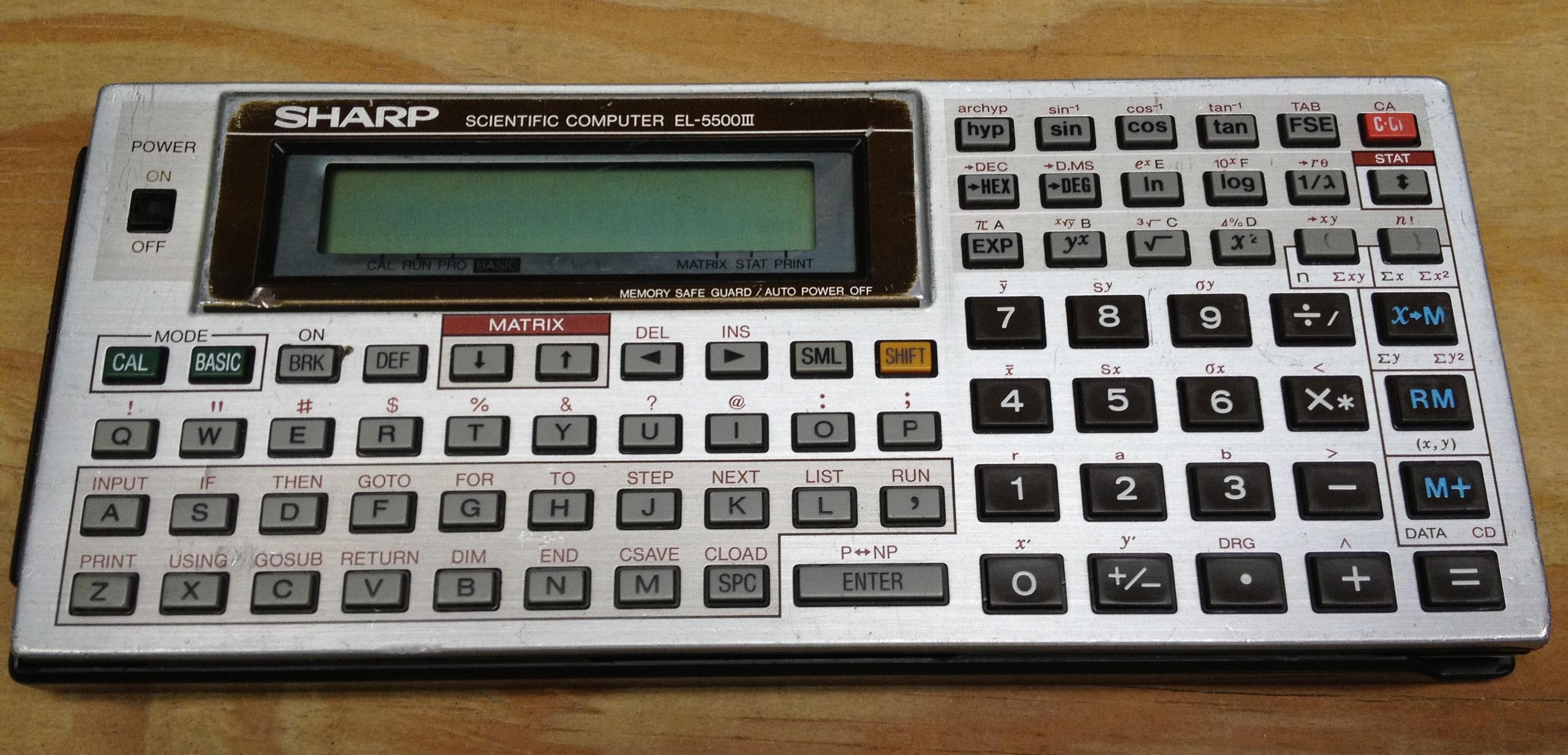 sharp el 9000 calculator manual