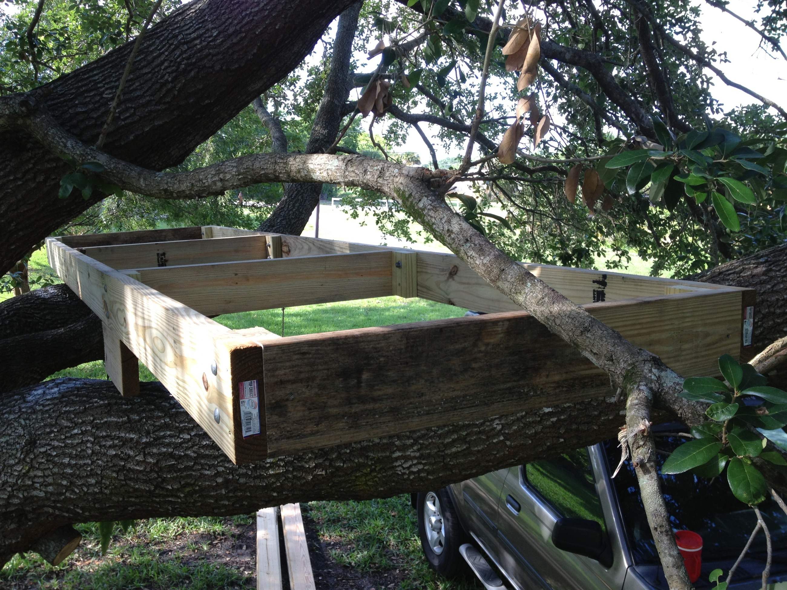 Our Second Tree House Well Actually It S A Deck Or