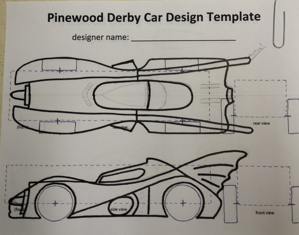 How to build an awesome batmobile pinewood derby car for Pine wood derby car templates