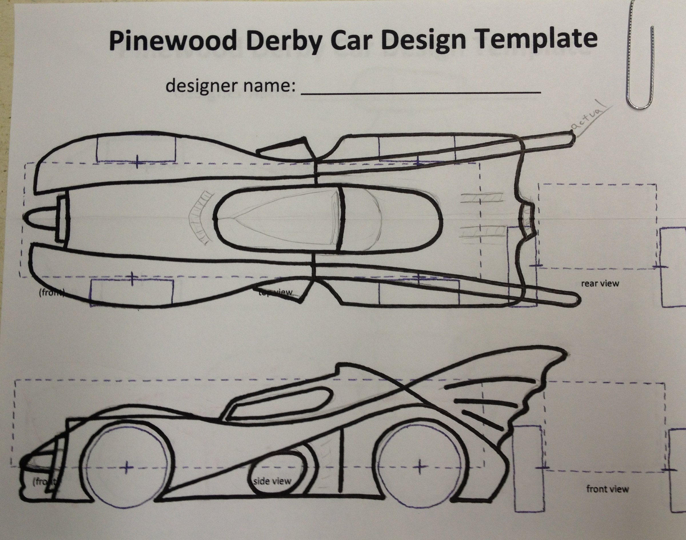 How to build an awesome batmobile pinewood derby car for Pine wood derby template