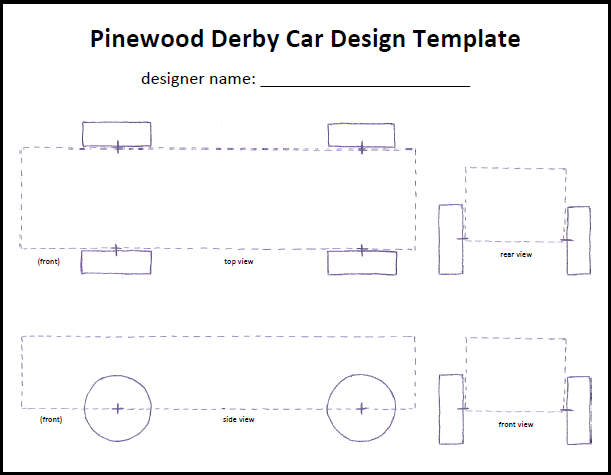 Cub Scout Pinewood Derby car tempate – Pinewood Derby Template