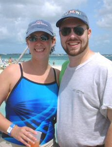 [Kurt Leucht and Samantha Leucht 5 year anniversary cruise photo]