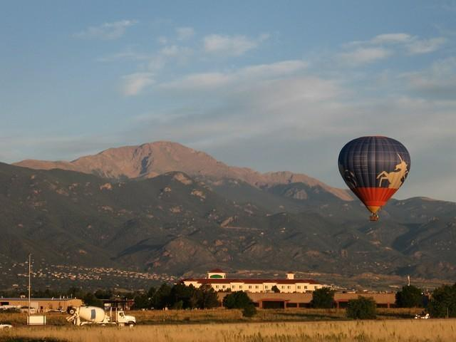 Pikes Peak and Hot Air Balloon