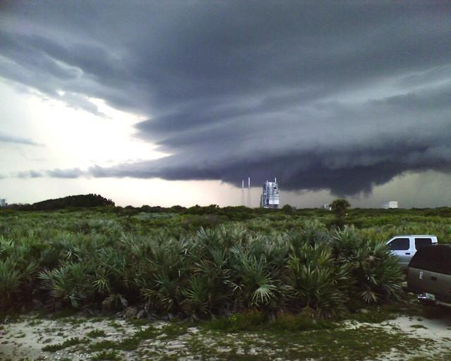 Thunderstorm Over Cape Launch Pad