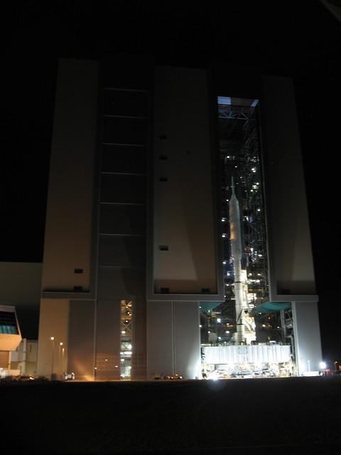 Ares I-X test flight rollout from VAB to the launch pad.  (October 20th, 2009)