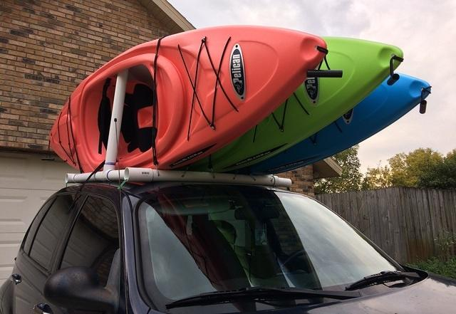 10 - expandable kayak rack