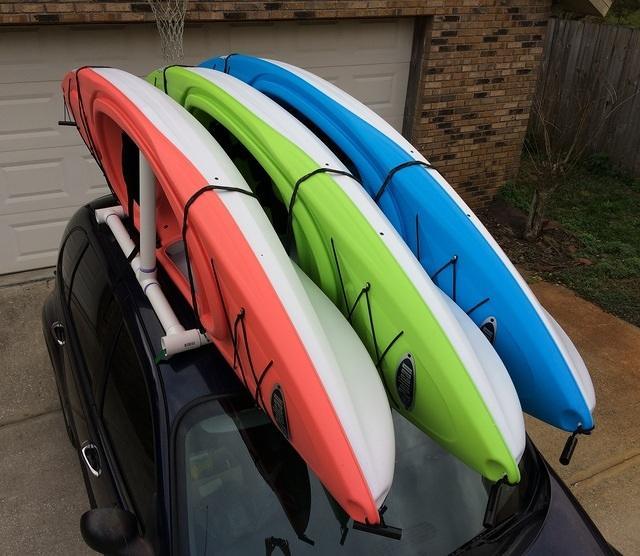11 - expandable kayak rack