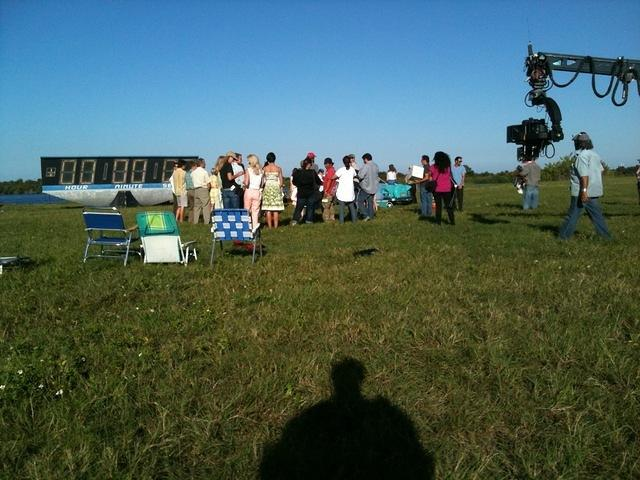 Filming at the KSC Countdown Clock