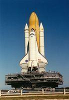 Space Shuttle Rollout to the Launch Pad