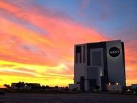 Sunset and VAB