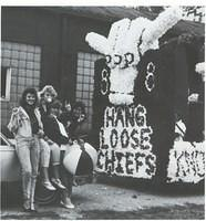 Jenny Scott and Tracy Feltner and Tricia Ward and Gretchen VanGundy with the famous float.jpg