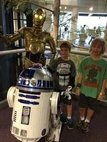 24 - costumed c3po and remote controlled r2d2