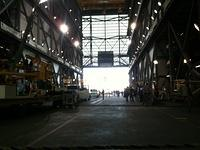 Filming inside VAB