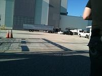 Filming outside VAB